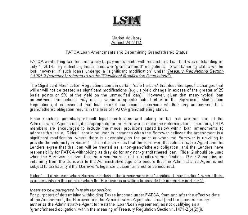 fatca-loan-amendments-and-determining-grandfathered-status-8-26-14-final