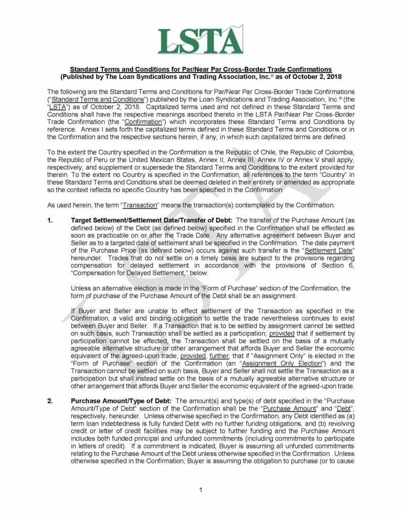Par_Near Par Cross Border Trade Confirmations - STCs (October 2, 2018)