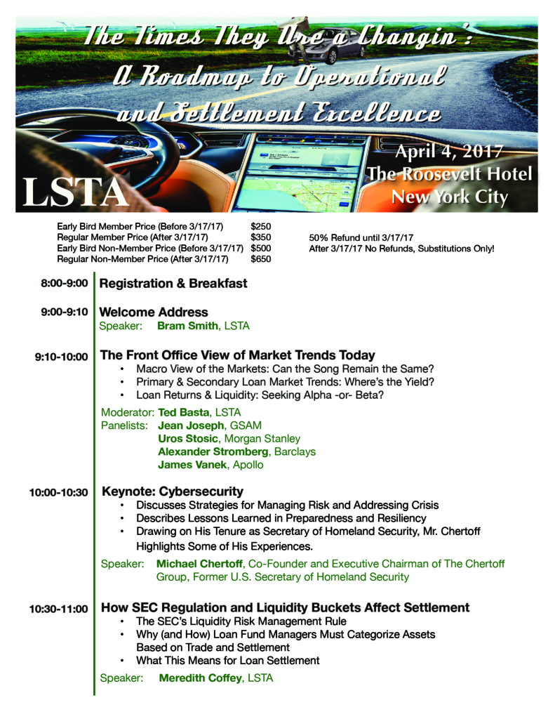 The Times They Are A-Changin Agenda - LSTA