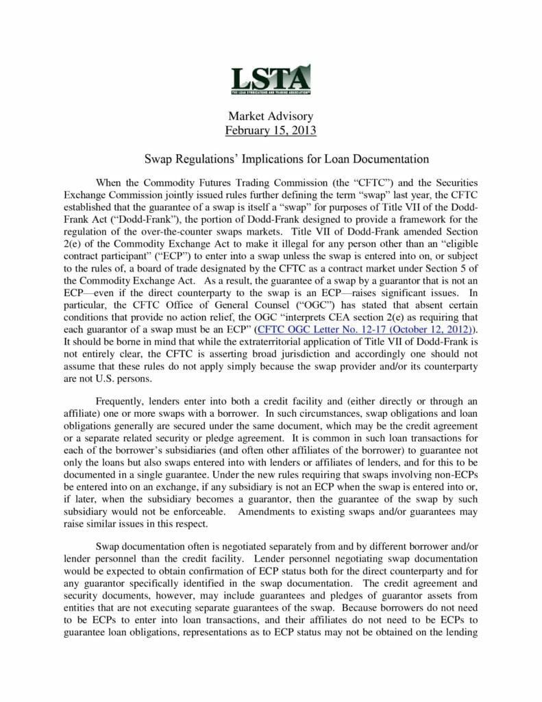 lsta-market-advisory-swap-requlations-implications-for-loan-documentation_february-15-2013-preview