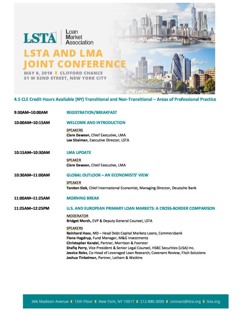 2019 Ny Joint Conference Agenda Lsta