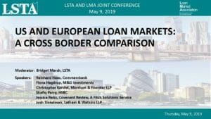 US and European Loan Markets (May 9, 2019)