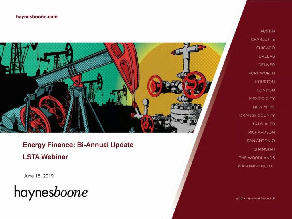 Energy Finance_Bi-Annual Update (June 18, 2019)