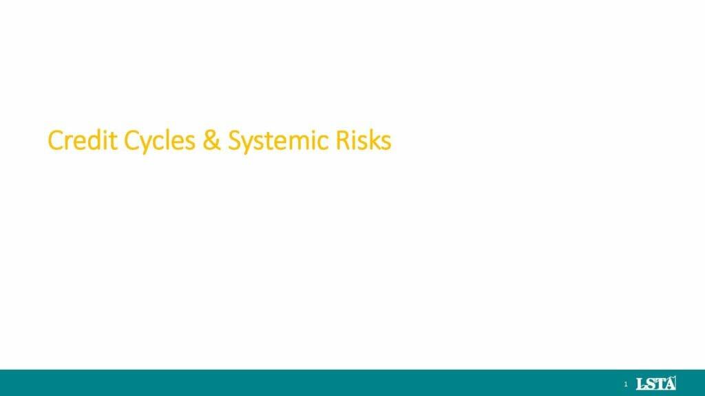 LSTA - May 2019 Systemic vs Credit Risk _LMFs_LIBOR