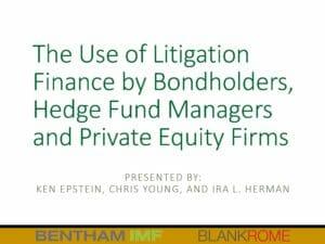 Litigation Finance Presentation (June 26, 2019)