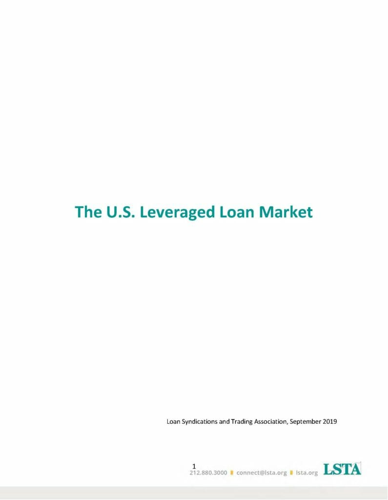 Pages from LSTA Leveraged Lending and CLO White Paper - Oct 2019