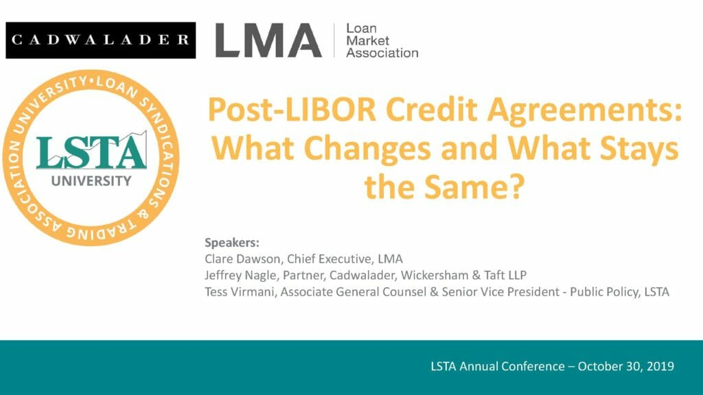Pages from Post-LIBOR Credit Agreement_What Changes And What Stays The Same (October 30, 2019)