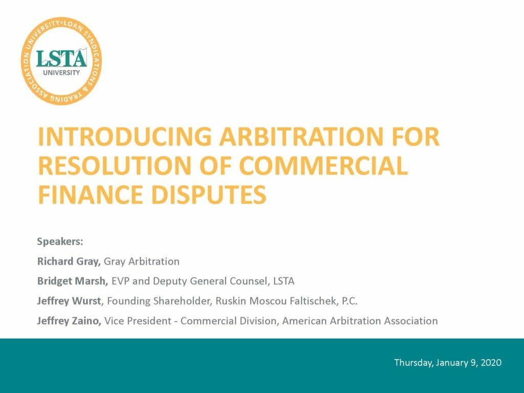 Pages from LSTA Webinar - Arbitration (January 9, 2020)
