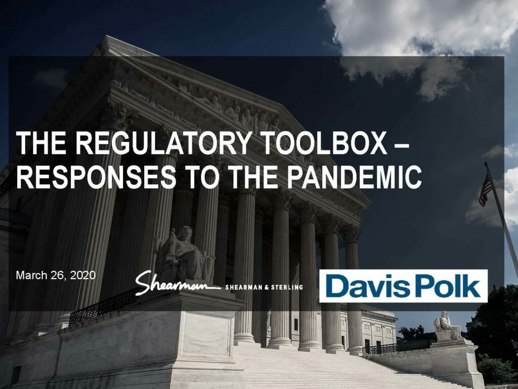 Pages from The Regulatory Toolbox – Responses to the Pandemic (March 26, 2020)