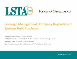 Pages from Leverage Management_Company Buybacks and Sponsor Debt Purchases (April 7, 2020)