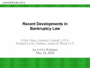 Pages from Recent Developments in Bankruptcy Law (May 26, 2020)