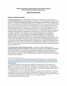 Pages from ARRC Recommended Fallback Language for Syndicated Loans (June 30, 2020)