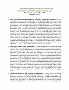 Recent Developments Materials (September 30, 2020)