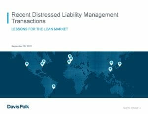 Recent Distressed Liability Management Transactions (September 29, 2020)