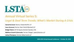 Legal & Deal Term Trends (October 28, 2020)