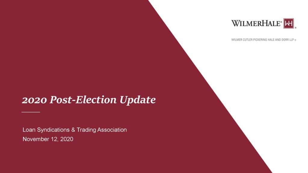 2020 Post-Election Update (November 12, 2020)
