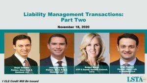 Liability Management Transactions_Part 2 (Nov 18, 2020)