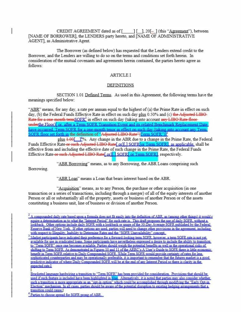 Blackline against LIBOR based IG TL (Dec 15 2020)