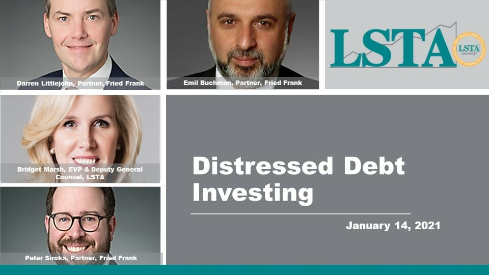 Distressed Debt Investing (Jan 14 2021)