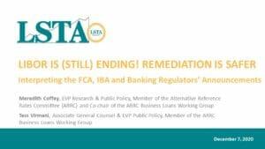 LIBOR Is Still Ending_Remediation Is Safer (Dec 7 2020)