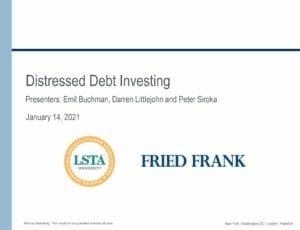 Distressed Debt Investing (Jan 14, 2021)