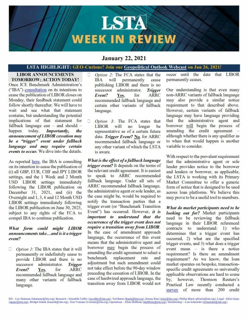 Week in Review 01 22 21