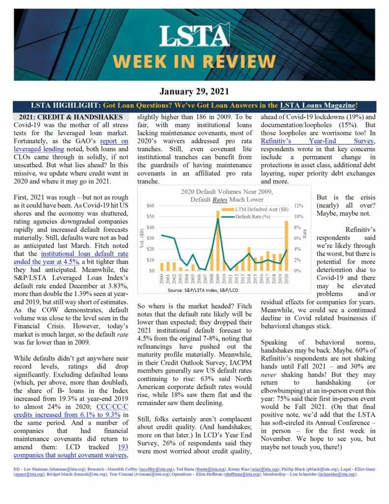 Week in Review 01 29 21