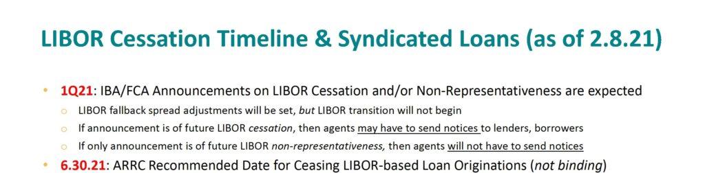 LIBOR Cessation Timeline 02 08 21
