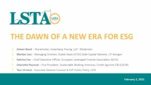The Dawn of a New Era for ESG (Feb 2 2021)