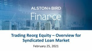 Trading Reorg Equity (Feb 25 2021)