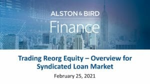 Trading Reorg Equity Webcast Replay