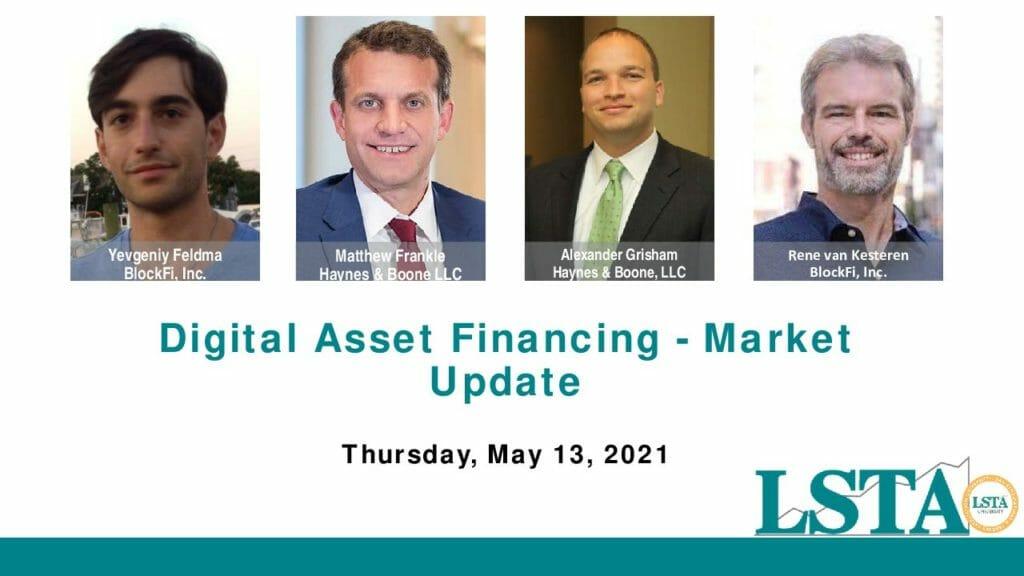 051321 Digital Asset Financing Market Update Banner