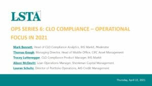 CLO Compliance_Operational Focus in 2021 (Apr 22 2021)