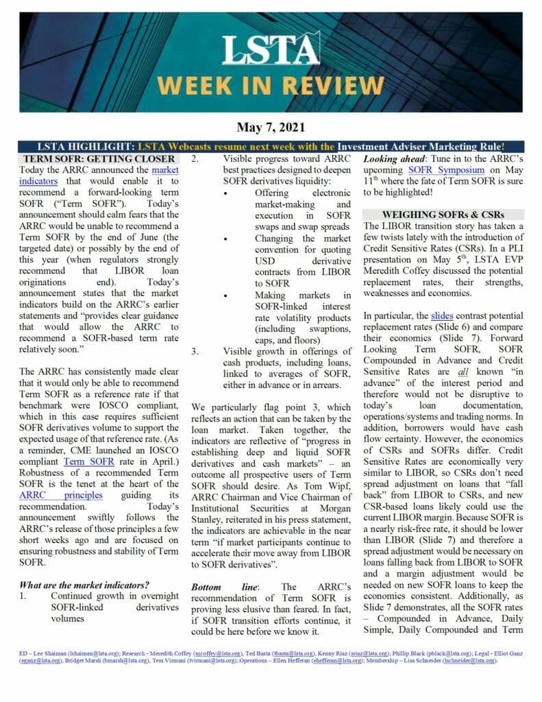 Week in Review 05 07 21