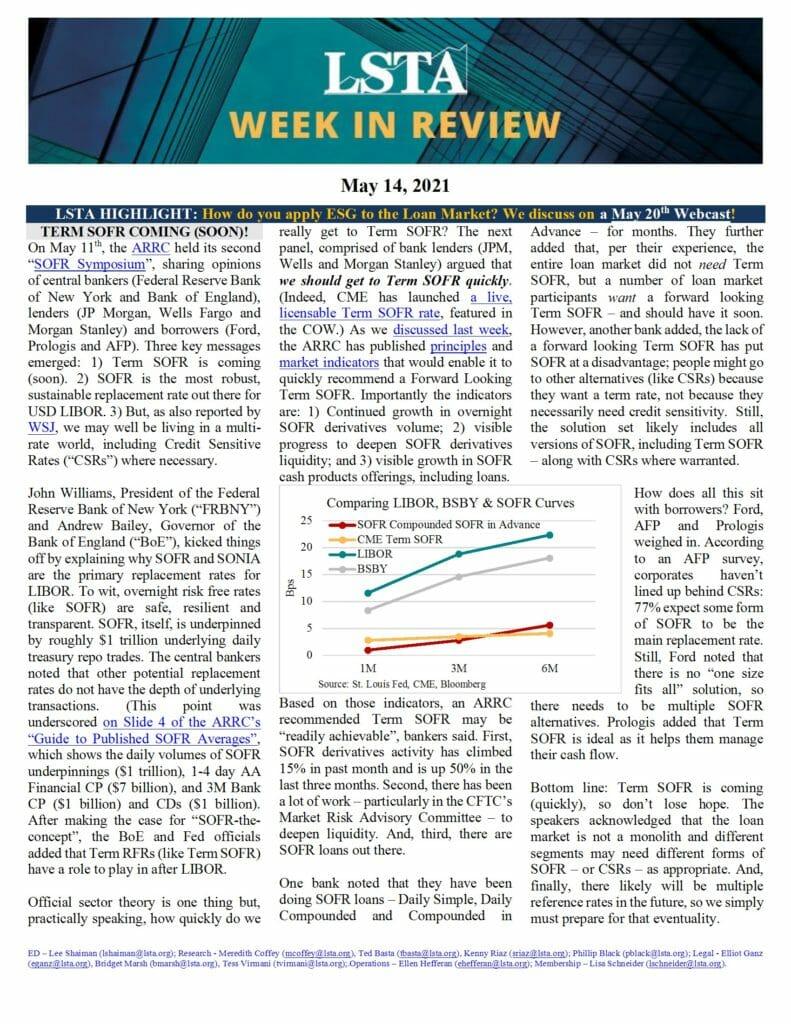 Week in Review 05 14 21