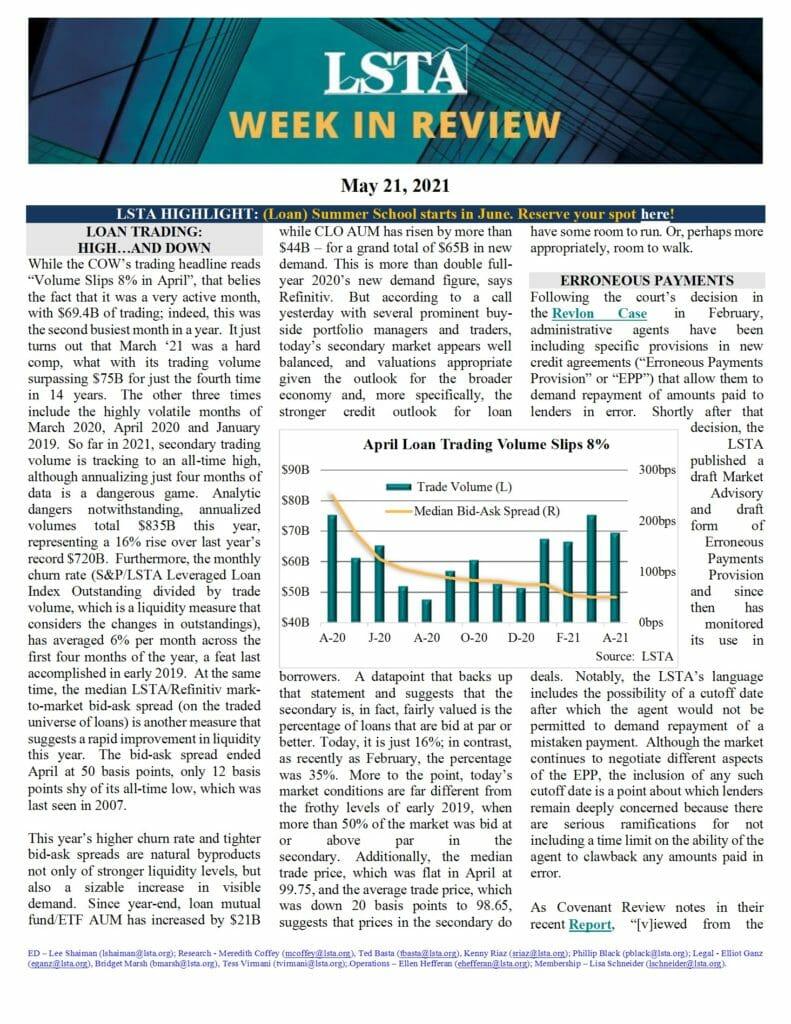 Week in Review 05 21 21