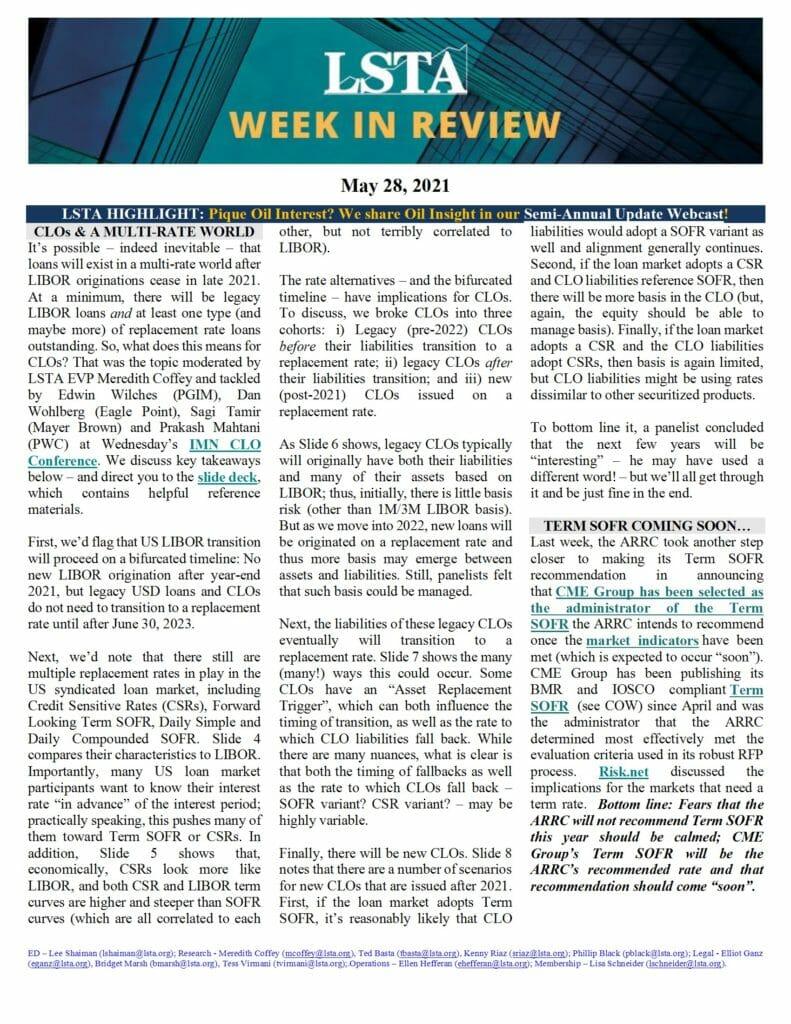 Week in Review 05 28 21