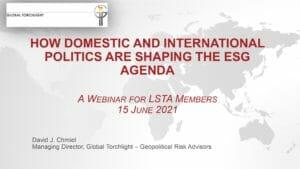 How Domestic and International Politics are Shapin the ESG Agenda (June 15 2021)