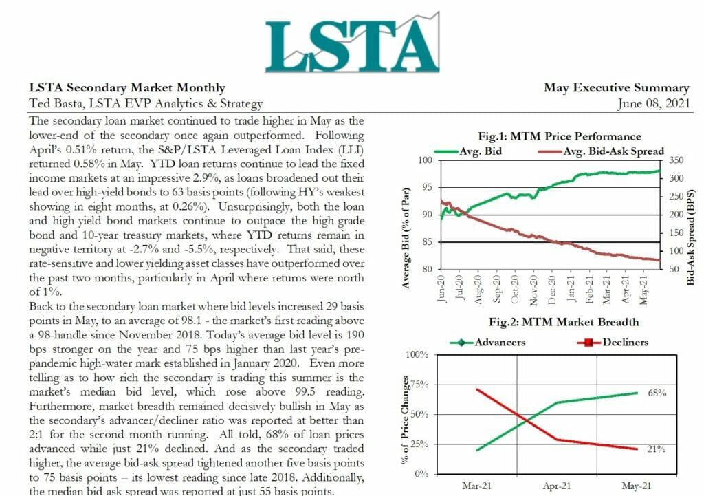 Secondary Market Monthly - May 2021 Executive Summary