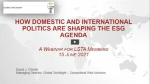 How Domestic and International Politics Are Shaping the ESG Agenda Webcast Replay