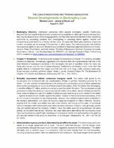 LSTA-Recent Developments (2021-08)