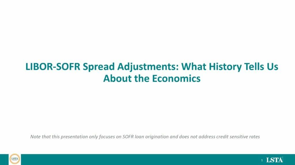 LSTA Spread Adjustment Analysis Presentation