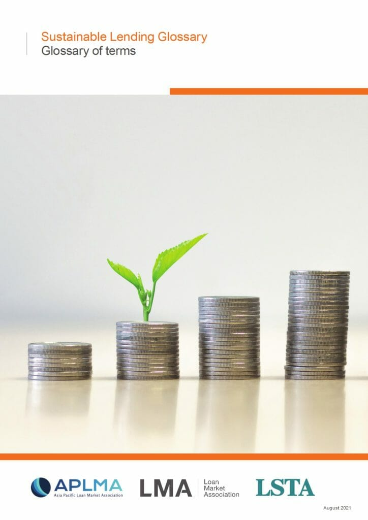 Sustainable Lending Glossary of Terms (August 2021)