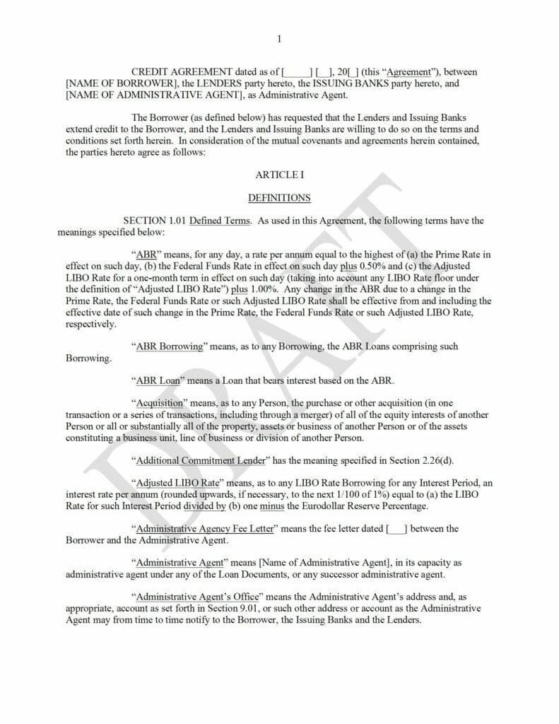 Blackline-Form-of-Credit-Agreement-Revolving-Credit-Facility_Draft_072821vs092321