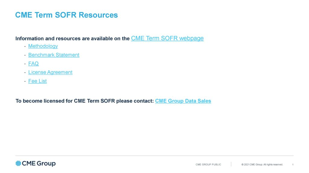 CME Term SOFR - Resources_