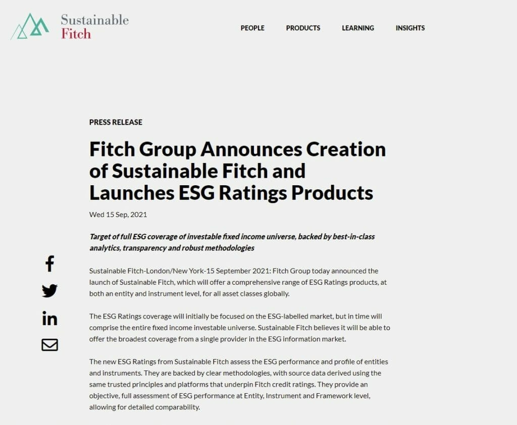 Sustainable Fitch (Sept 2021)