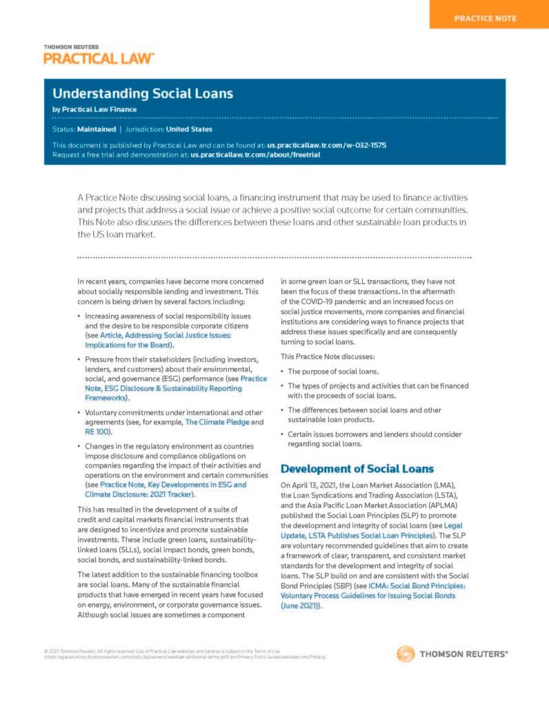 Understanding Social Loans Sept 20, 2021