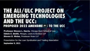 Digital Assets and Virtual Currencies – Amendments to UCC – Replay
