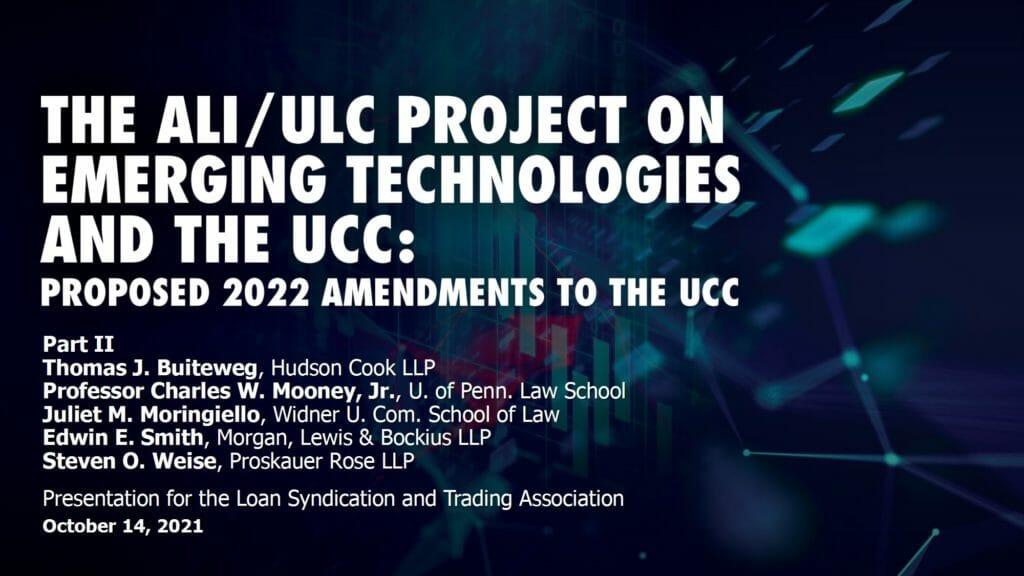 Slides_2022 Amendments to the UCC II_101421 Webcast