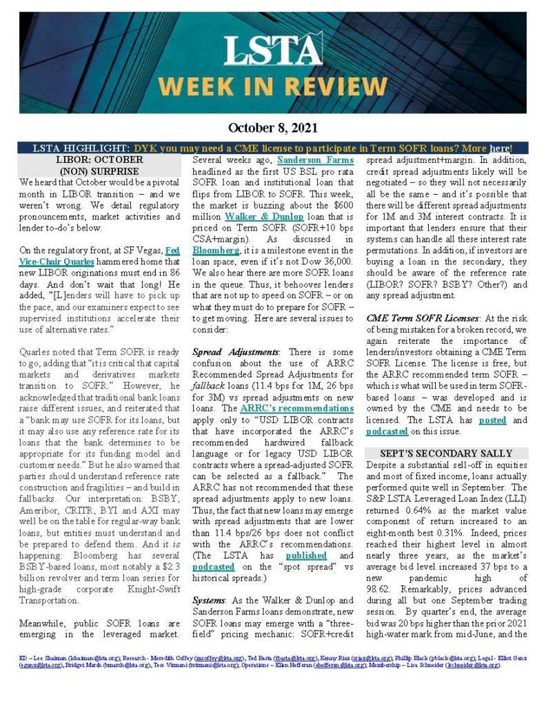 Week in Review 10 08 21